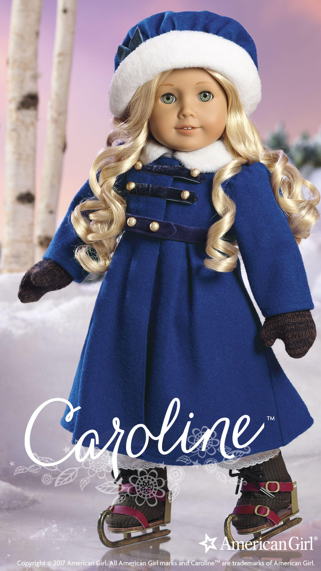 Caroline Abbott | 1812 | BeForever | Play at American Girl  Caroline Abbott...