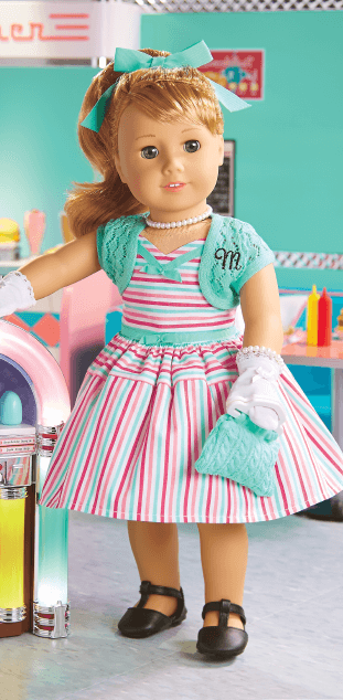 American Girl Maryellen Larkin Seaside Diner Set Fabric Apron for Doll Only