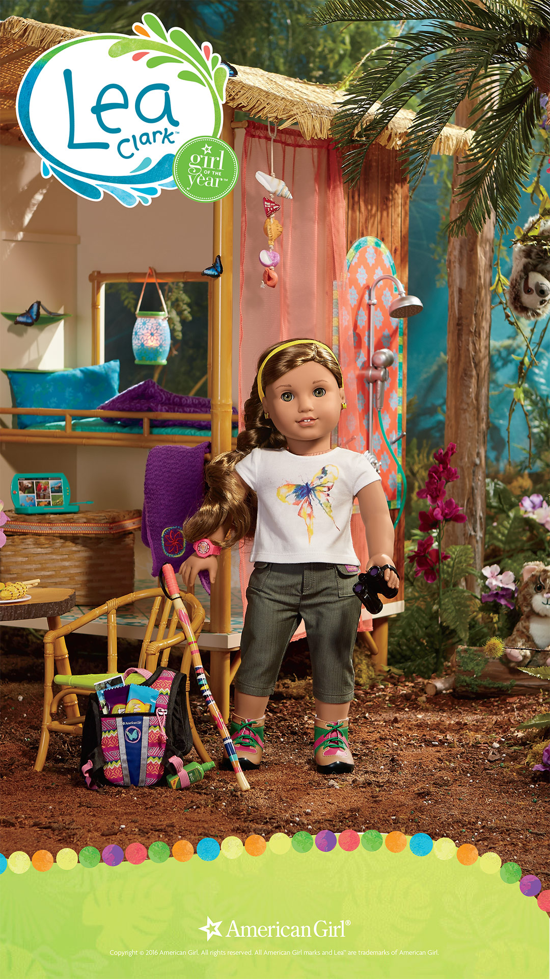 american girl wallpaper  Lea Clark | 2016 | Girl of the Year | Play at American Girl