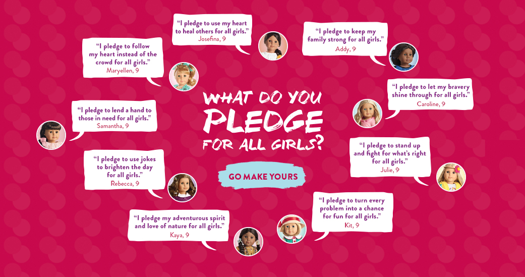 What do you pledge for all girls?