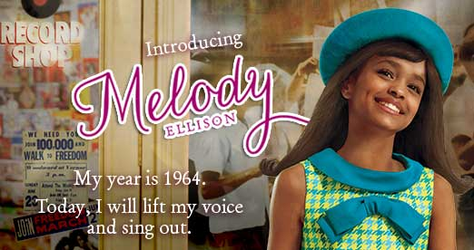 Introducing Melody Ellison. My year is 1964. Today, I will lift my voice and sing out.