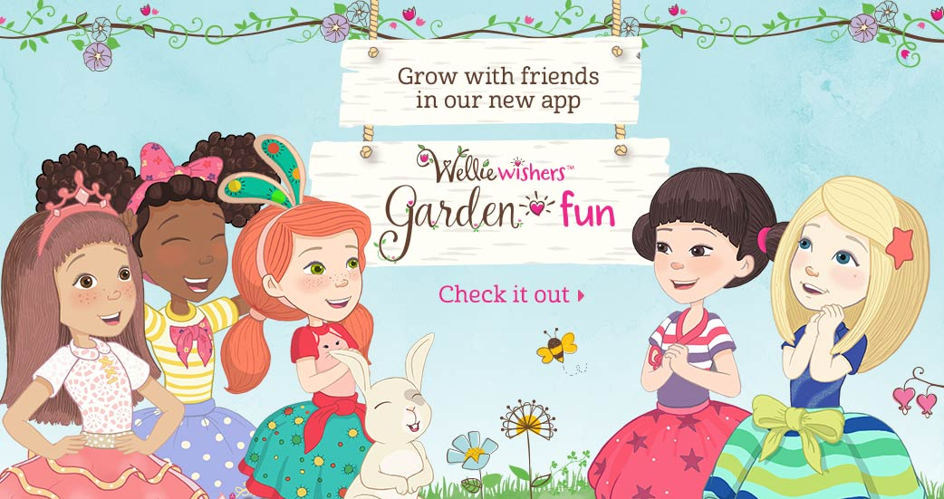 Grow with friends in our new app. WellieWishers Garden Fun. Check it out.